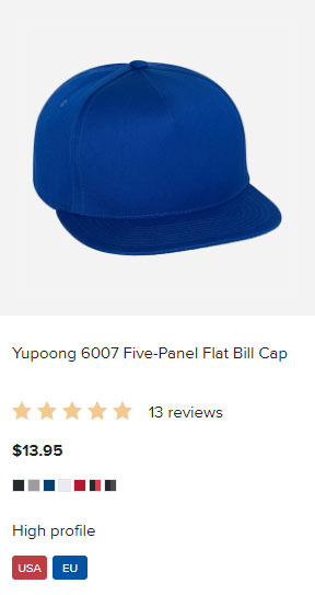Dropshipped POD: Printful Hat Embroidery Multi-Color Designs